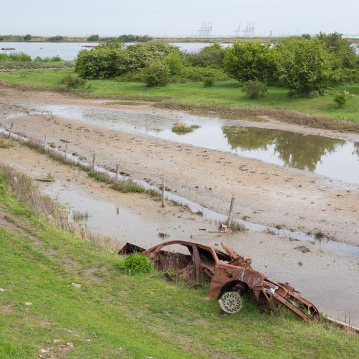 Abandoned car, Hoo Peninsula.