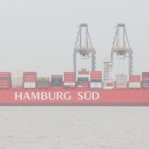 Hamburg Süd Container ship unloading at London Gateway Port