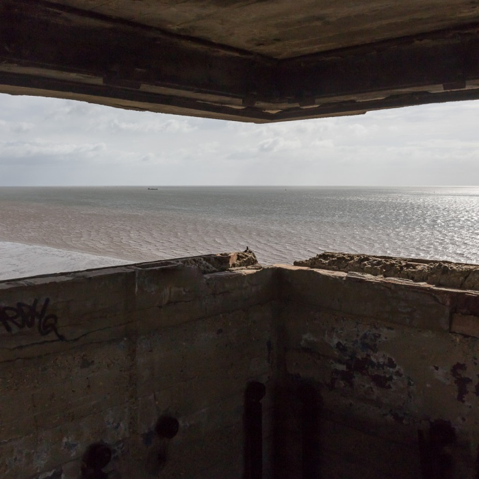 Grain Tower Battery X. Upper lookout, looking seaward.