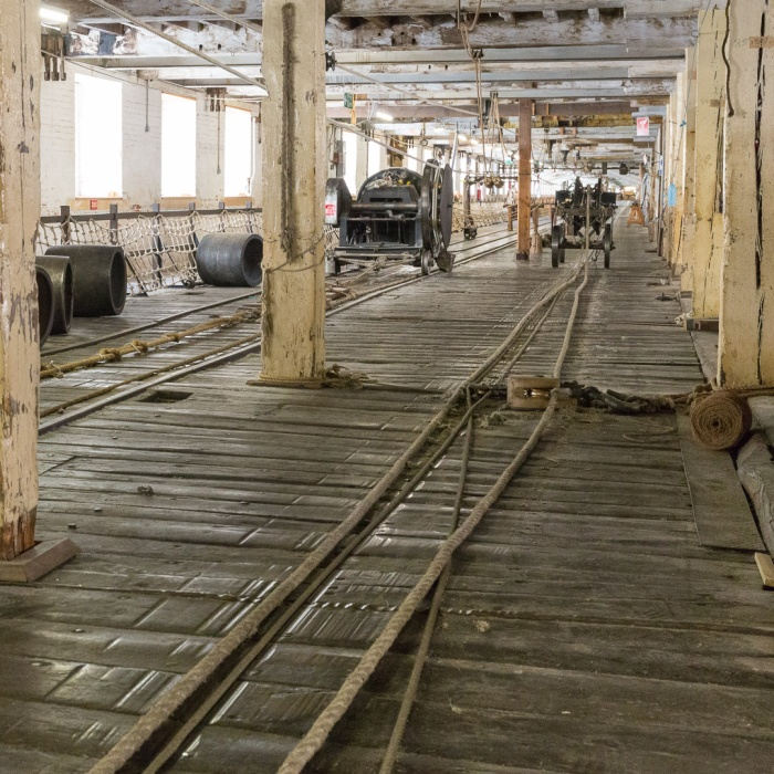 Ropewalk II. The Victorian Ropery, The Historic Dockyard Chatham.