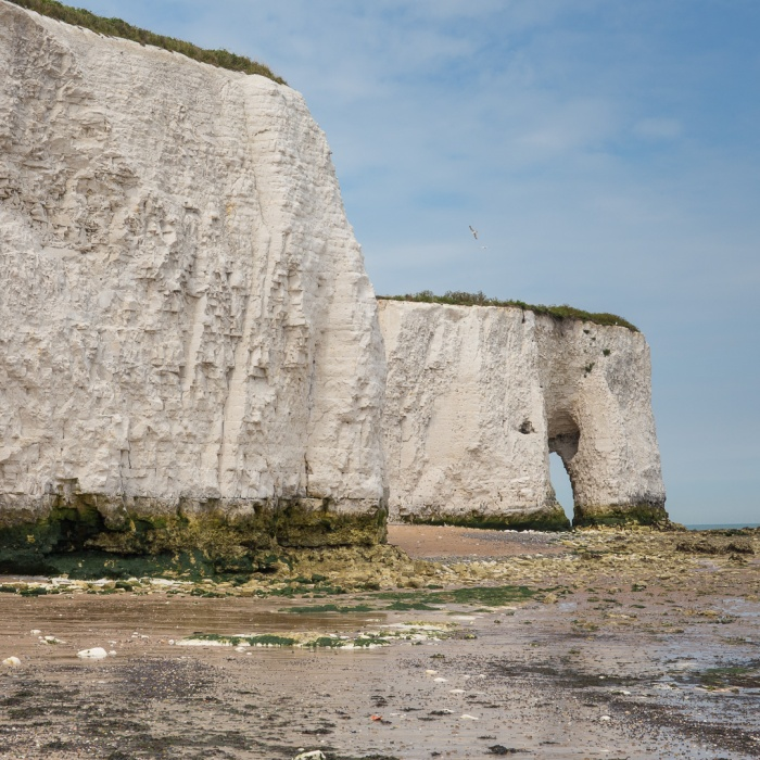White Ness chalk arch at Kingsgate Bay.