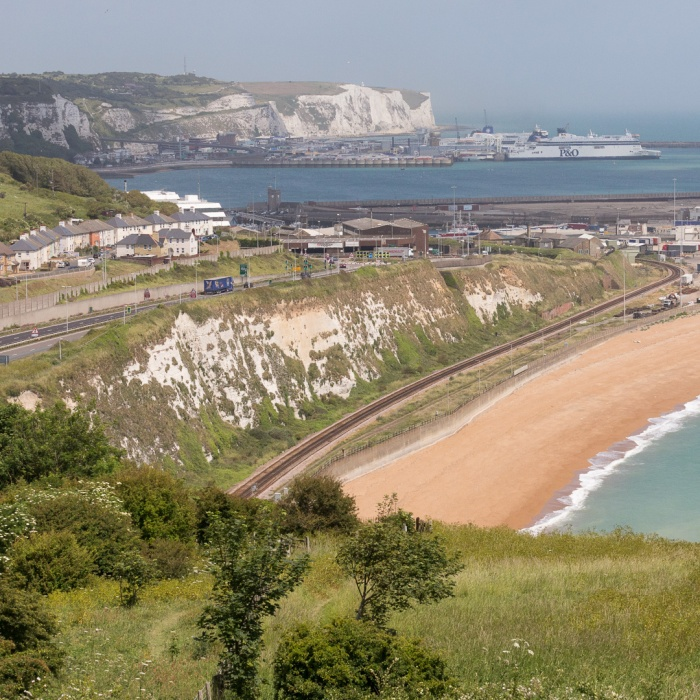 Dover from Shakespeare cliff.