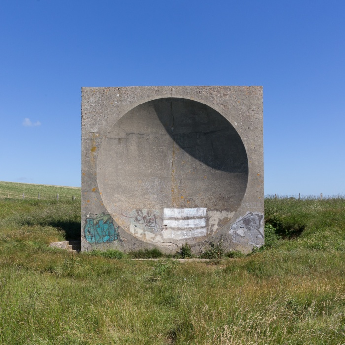 Abbot's Cliff Acoustic mirror, between Folkestone and Dover, a precursor to radar was uses as a listening device for detecting Zeppelin's and planes in WW1.