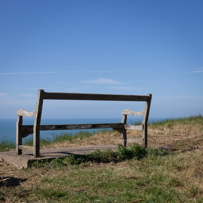 Eagle's Nest bench overlooking East Wear Bay.
