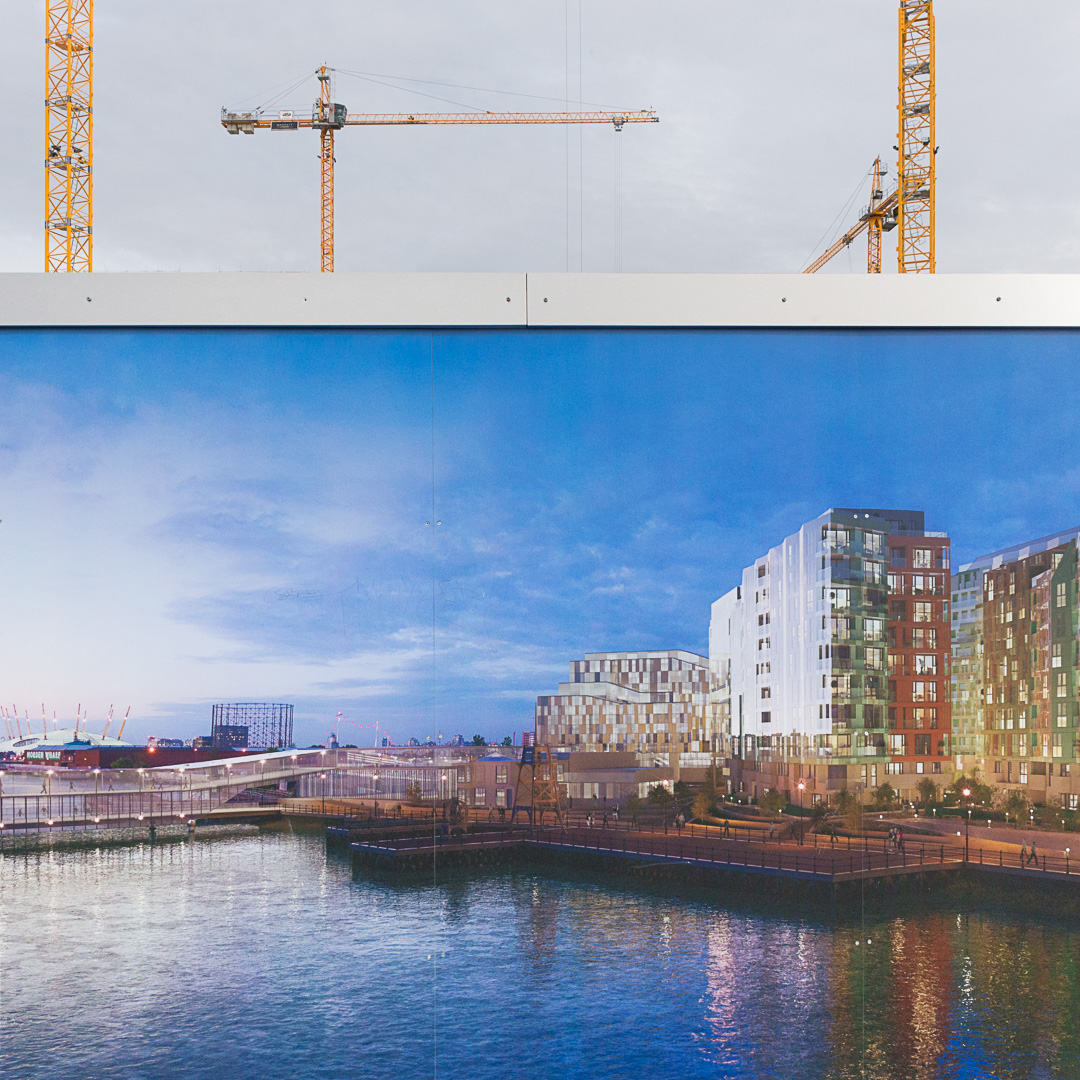 Enderby Wharf development by Barratt Homes, Greenwich