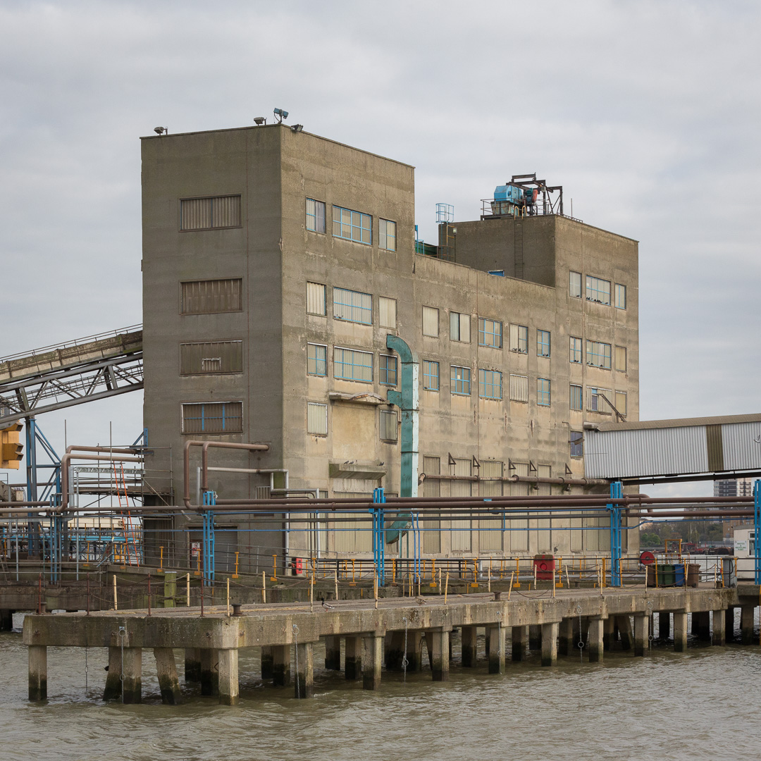 Quay at Erith Oil Works.