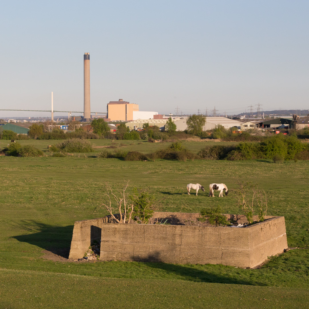 WW2 anti-aircraft enclosure Erith Marshes