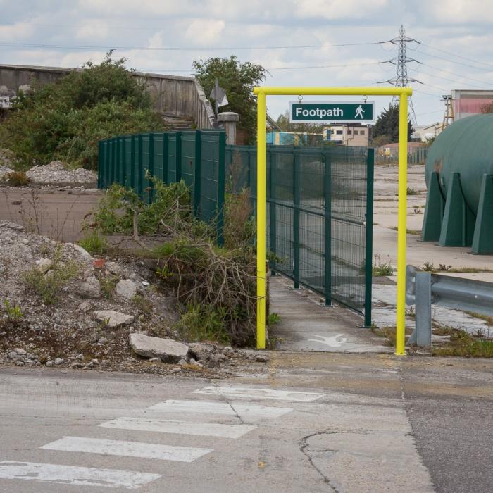 Footpath, Northfleet Cement Works.
