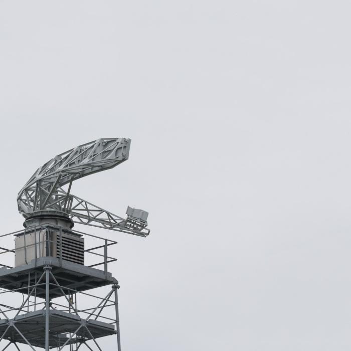 HM Dover Coastguard Radar Dish.