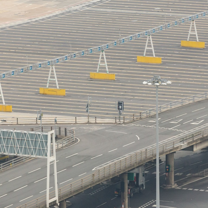 Waiting bays, the Port of Dover.