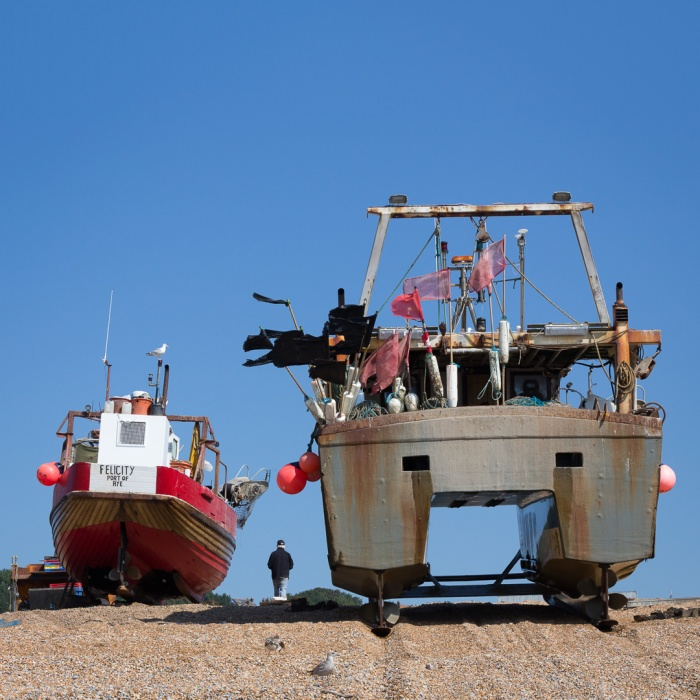 Fishing boats, The Stade, Hastings, Sussex.