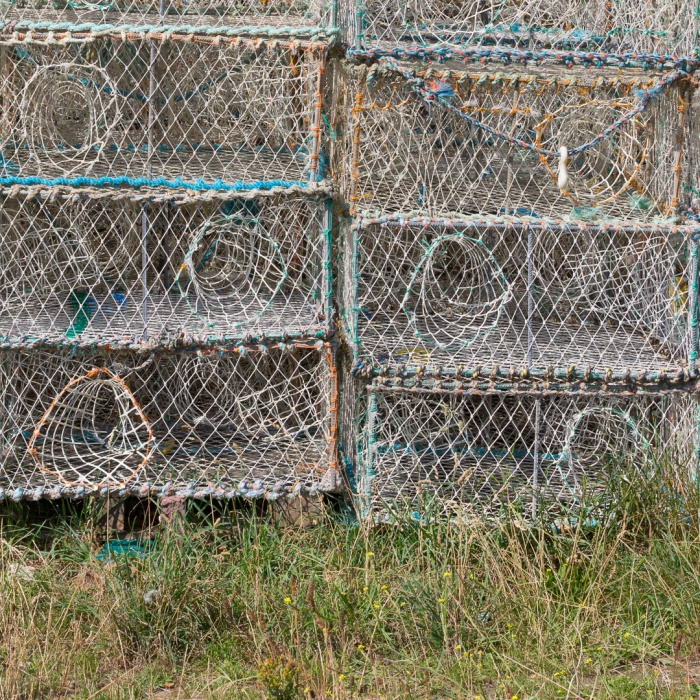 Lobster traps, The Stade, Hastings, Sussex.