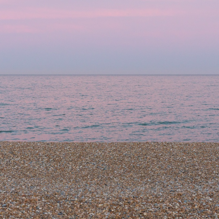 Eastbourne beach dusk, Sussex.