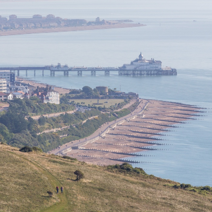 Eastbourne from Beachy Head and the start of the South Downs Way, Sussex