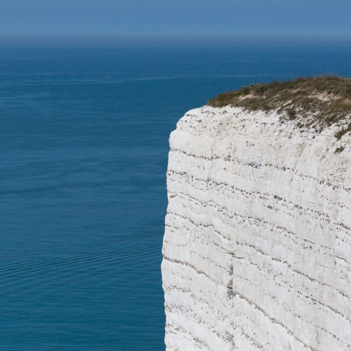 Beachy Head cliffs and the English Channel, Sussex.