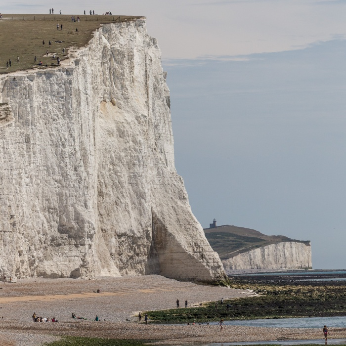 Cliff End and the Severn Sisters from Cuckmere Haven, Sussex.