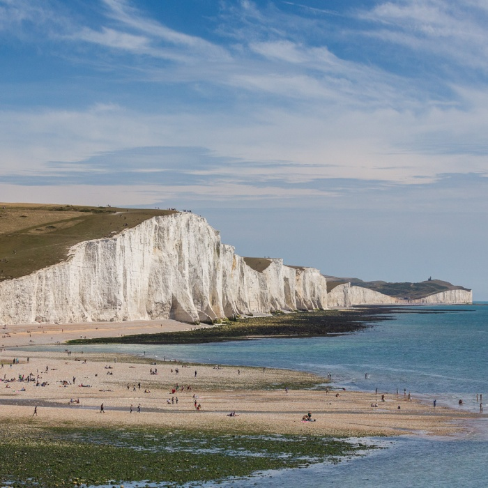 Cuckmere Haven and the Severn Sisters from Seaford Head, Sussex.