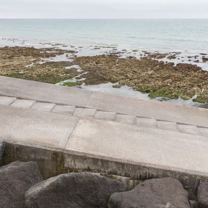 Undercliff steps, Rottingdean, Sussex.