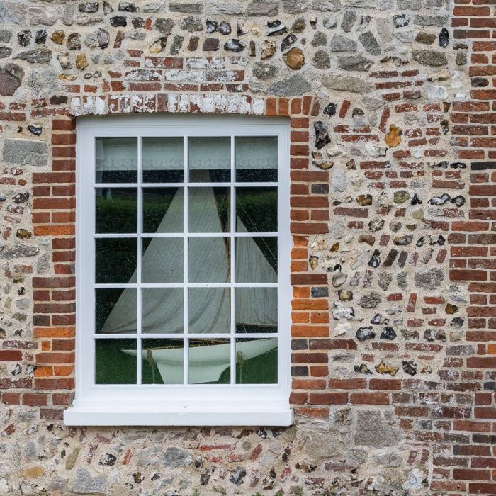 Nautical window, Bosham, Sussex.