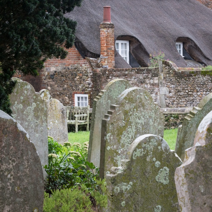 Holy Trinity Church graveyard, Bosham, Sussex.