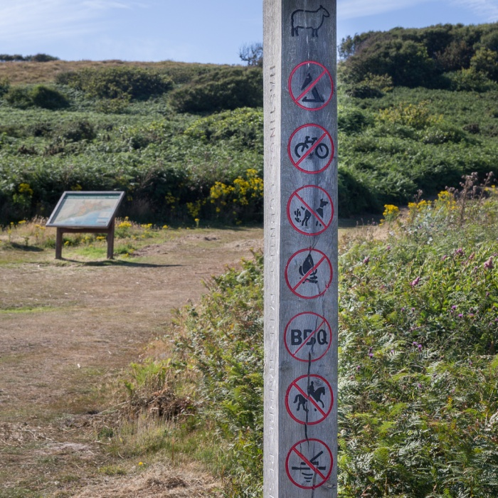 Hastings Country Park Regulations, Fairlight Cove, Sussex.