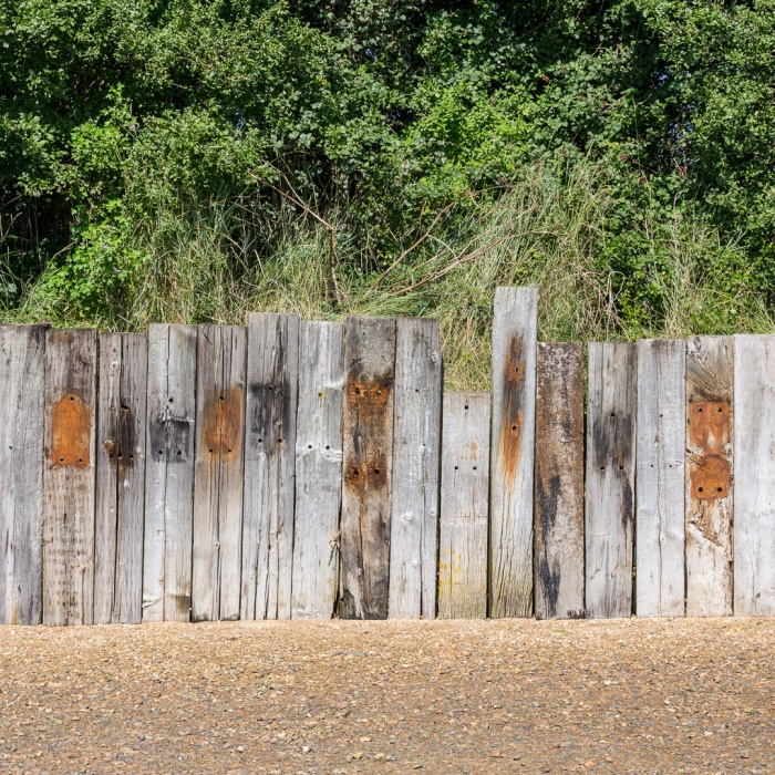 Railway sleepers, Langstone, Hampshire.