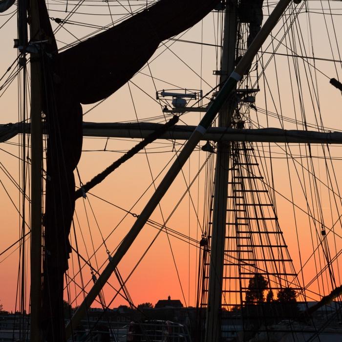 Rigging, Gunwharf Quays, Portsmouth, Hampshire.