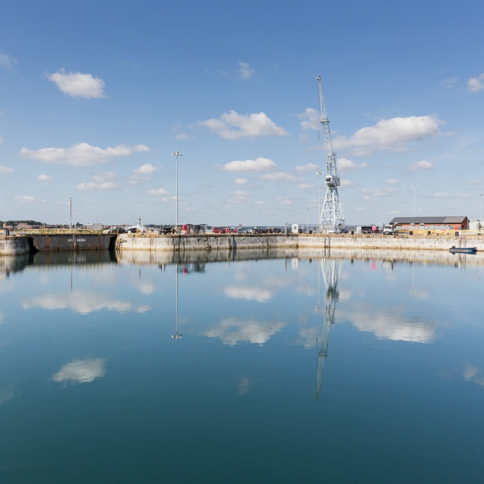 Number 1 Basin, Portsmouth Naval Base, Hampshire.