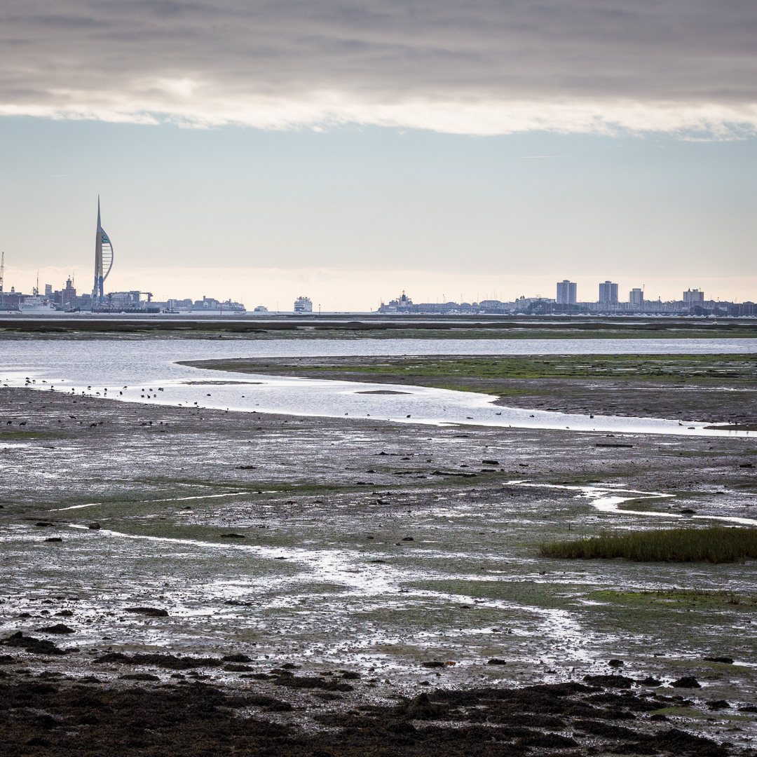 Portsmouth from Portchester, Hampshire.