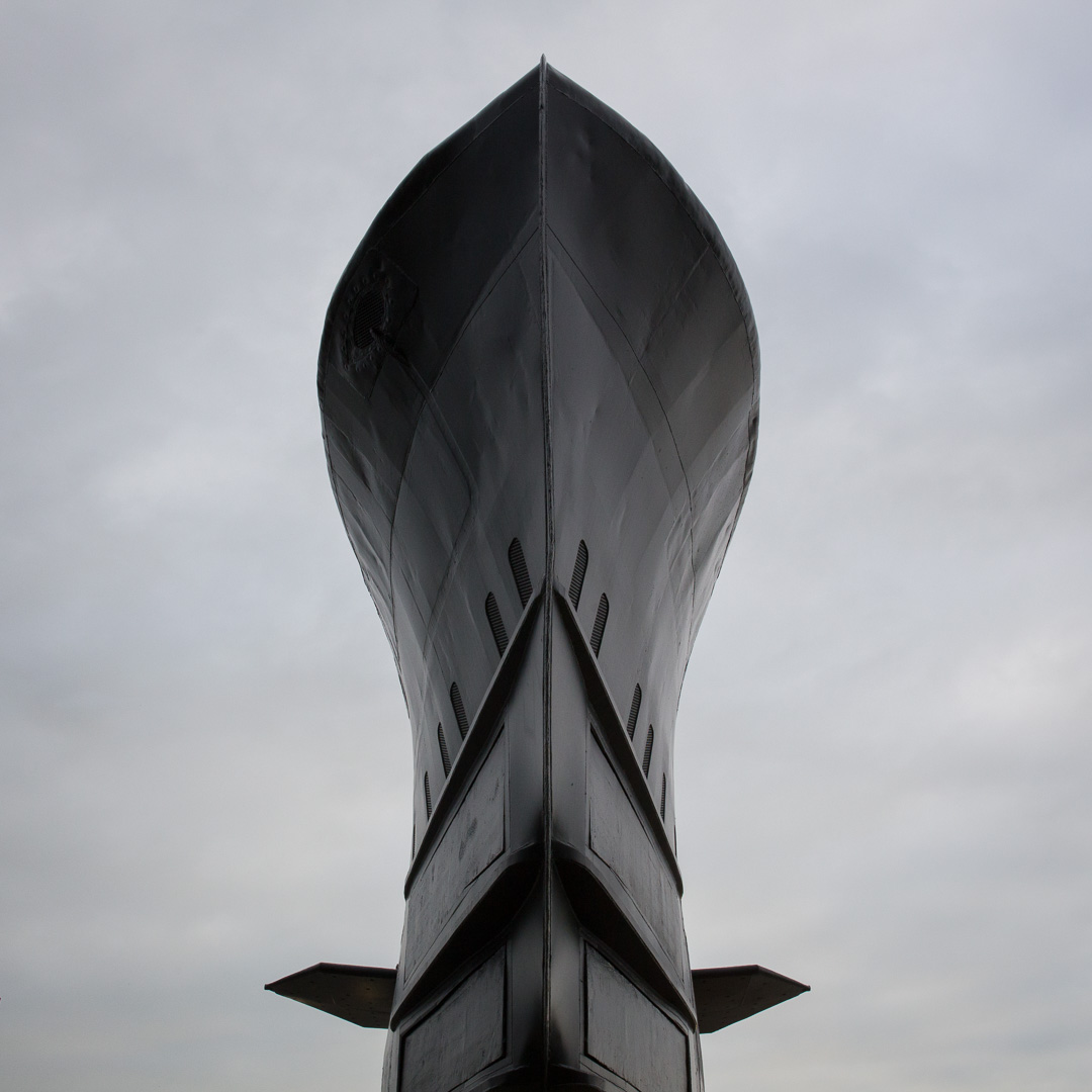 Bow of HMS Alliance, Britain's last surviving Second World War-e