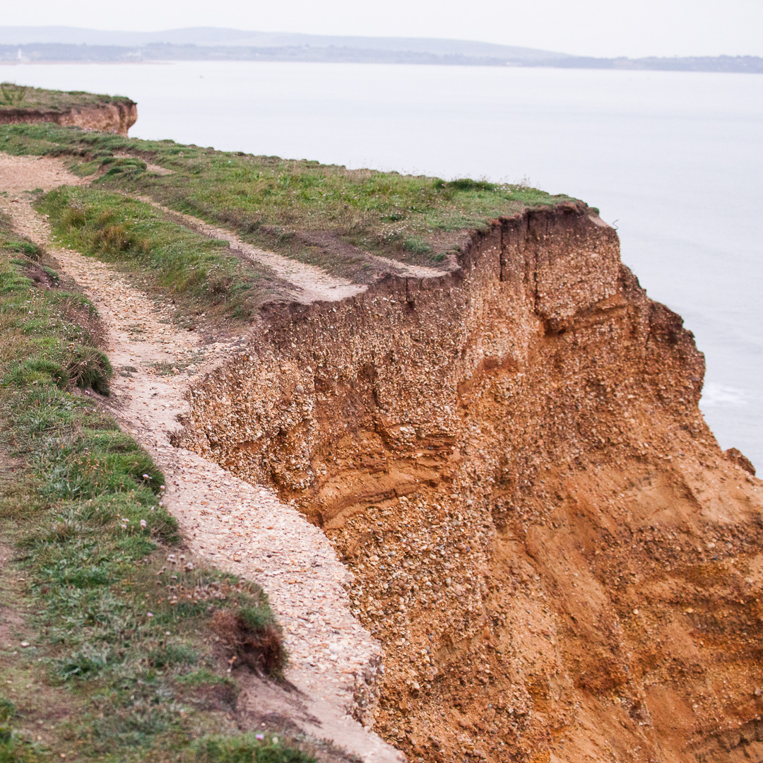 Cliff Erosion, Milford on Sea, Hampshire.
