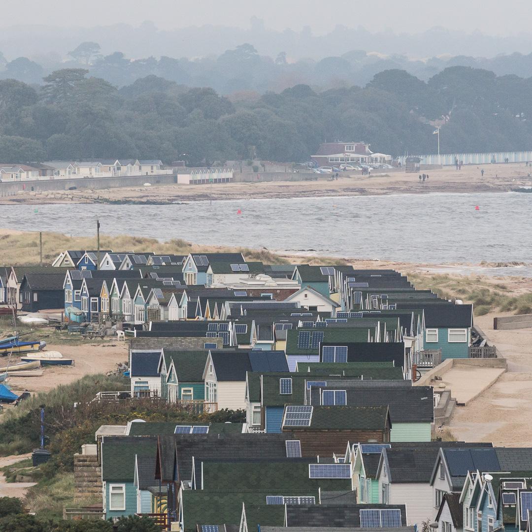 Beach huts, Hengistbury Head, Dorset.