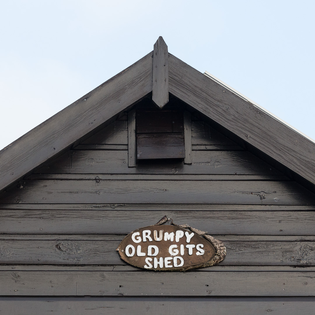 Grumpy Old Gits Shed, Hengistbury Head, Dorset.