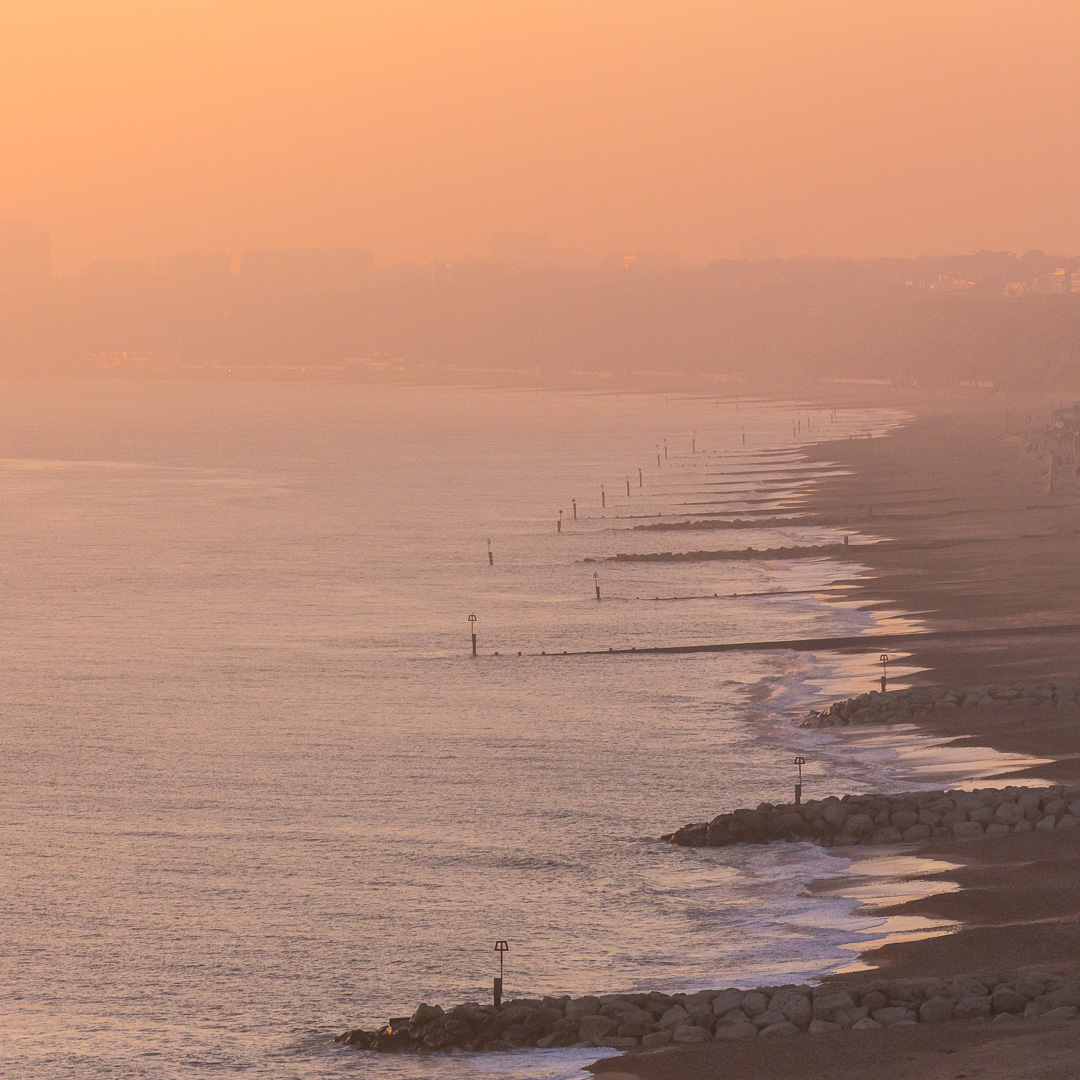 Bournemouth from Warren Hill, Dorset.