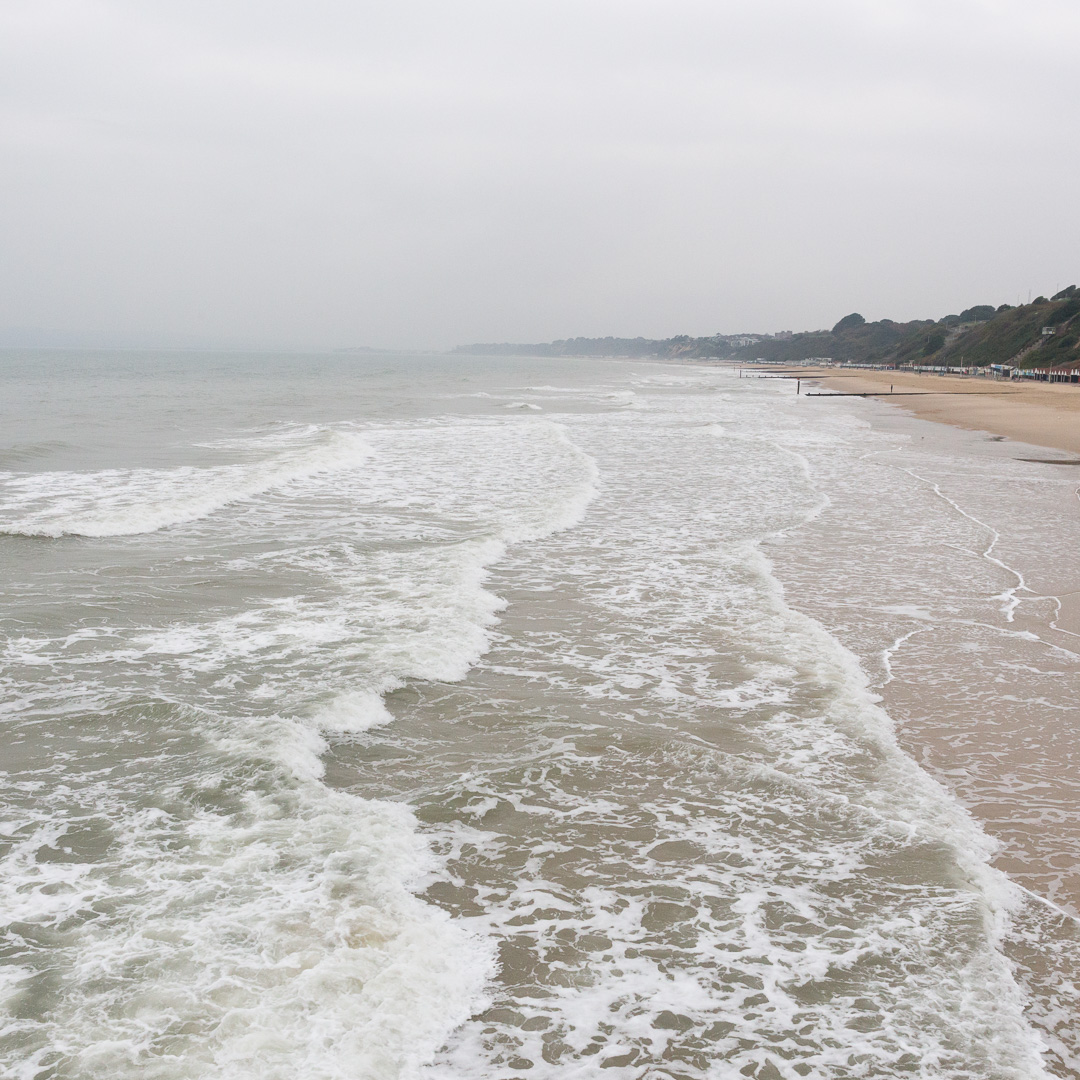 Bournemouth beach towards Sandbanks, Dorset.