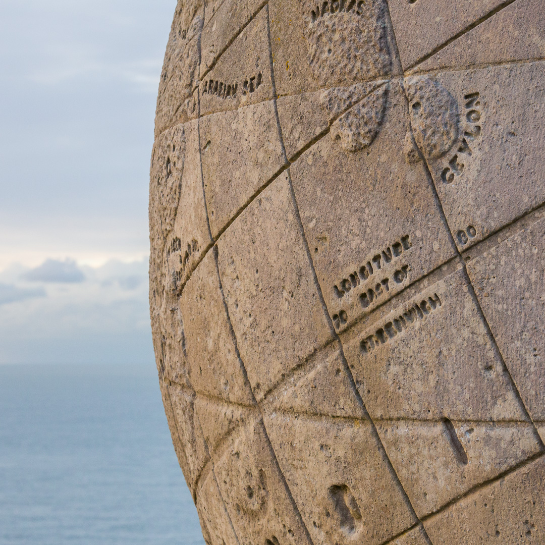 Great Globe, 1887, Durlston Country Park , Dorset.