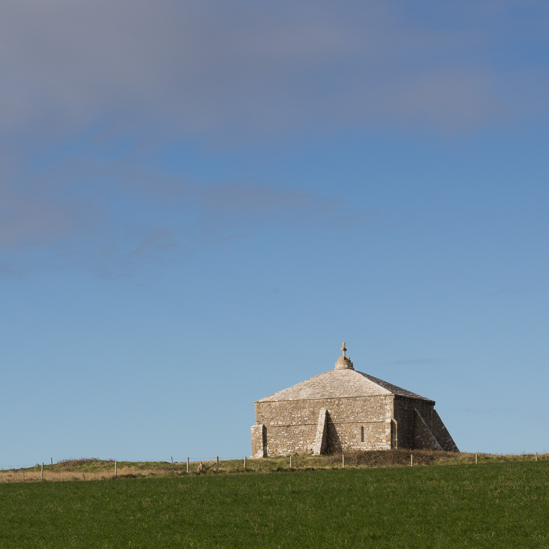 St. Aldhelm's Chapel, 13th century, St. Aldhelm's Head, Dorset.