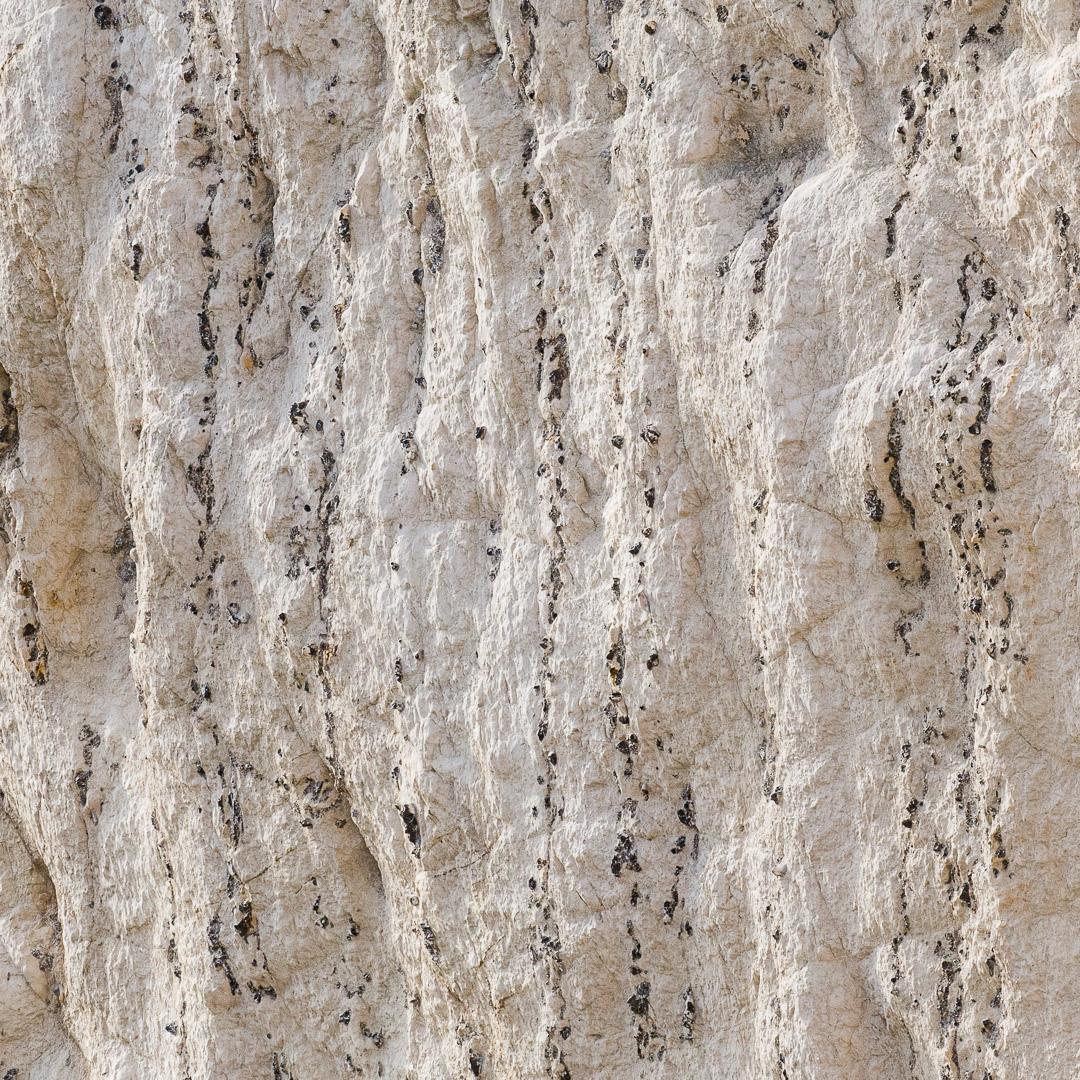 Vertical chalk & flint strata, Bat's head, Dorset.
