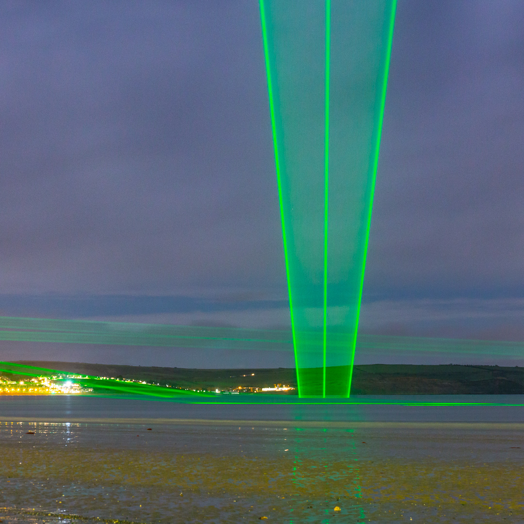 Light Veils I, Permanent laser installation, Weymouth, Dorset.