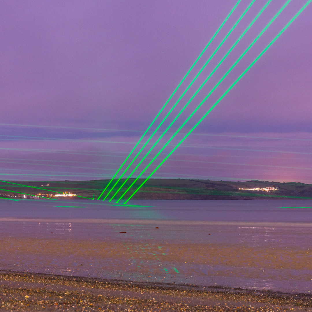 Light Veils II, Permanent laser installation, Weymouth, Dorset.