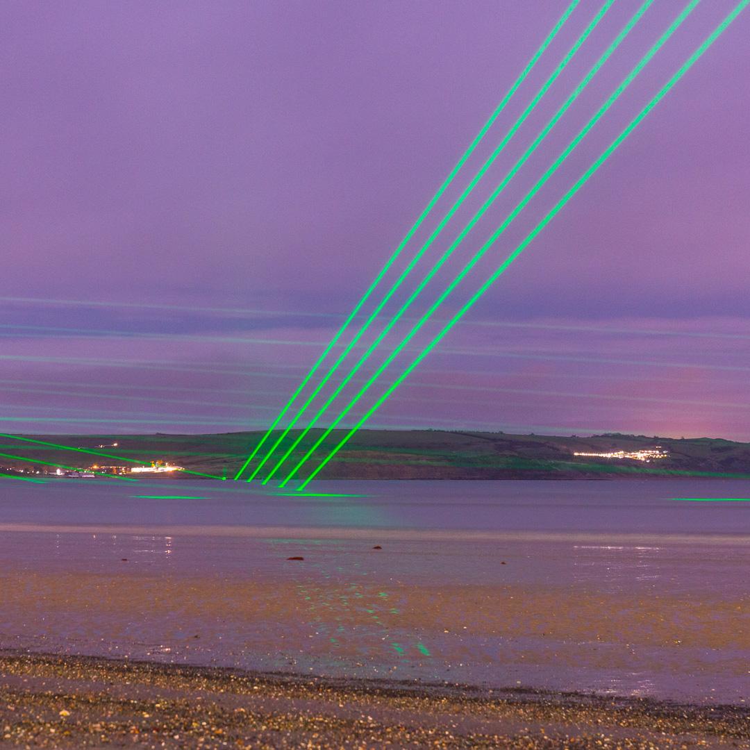 Light Veils II, Permanent laser installation, Weymouth, Dorset.