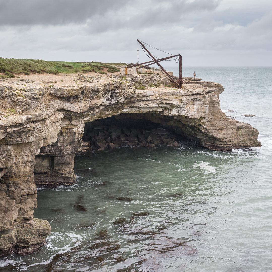 Cave Hole and Broad Ope Crane, Portland, Dorset.