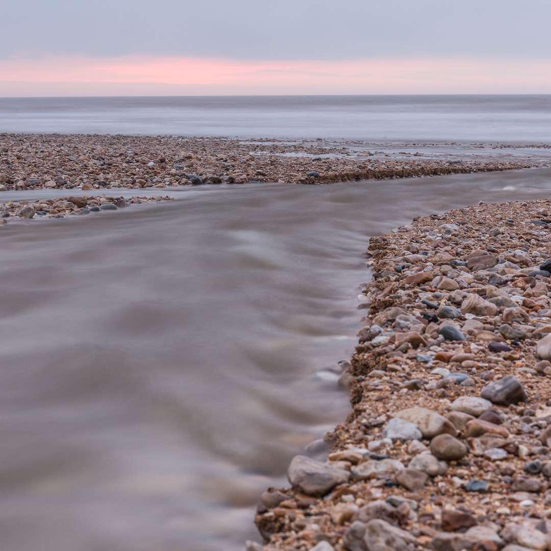 River Char at Charmouth beach, Dorset.