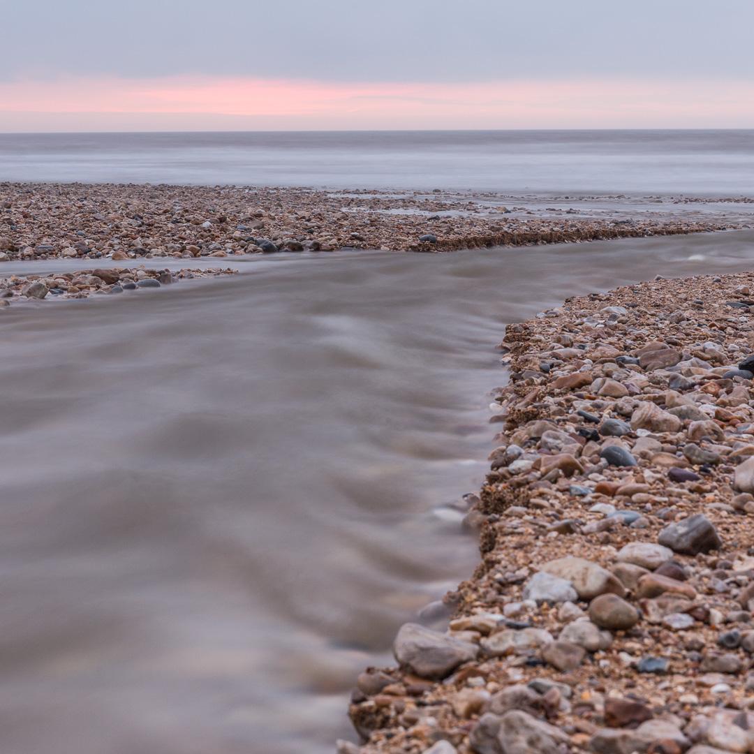 River Char at Charmouth beach, Dorset.