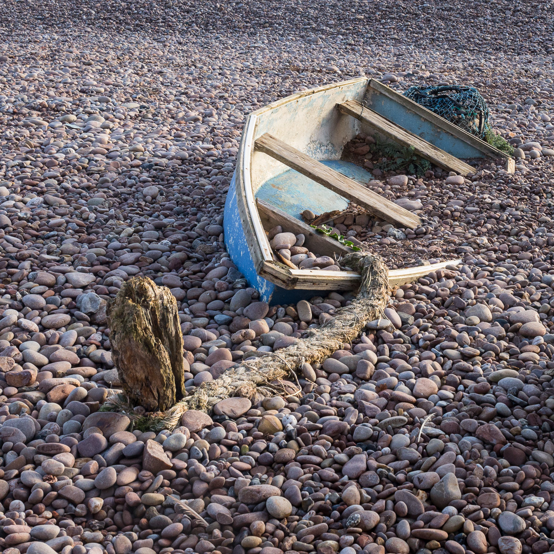 Buried Boat, Sidmouth, Devon.