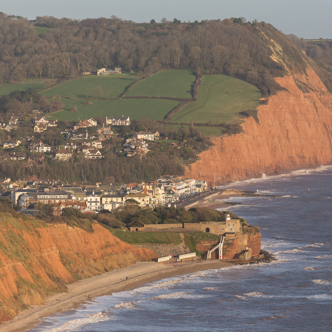 Sidmouth & Salcombe Hill Cliff, Devon.