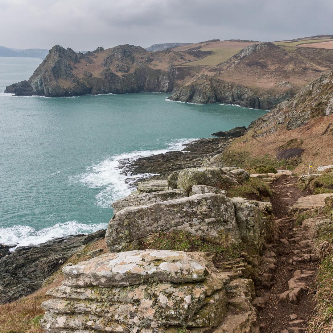 South West Coast Path to Gammon Head, Devon.