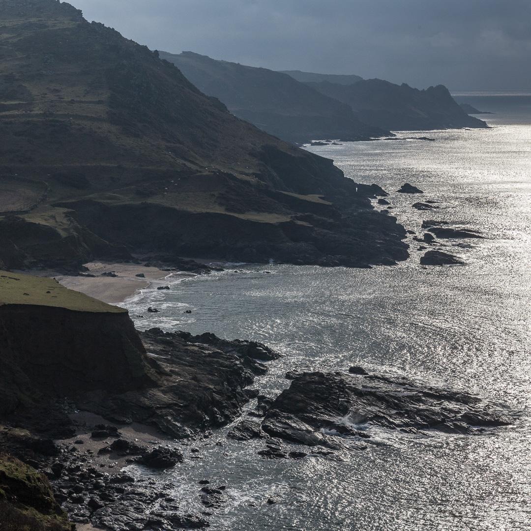 Deckler's Cliff & Gammon Head from Gara Rock, Devon.