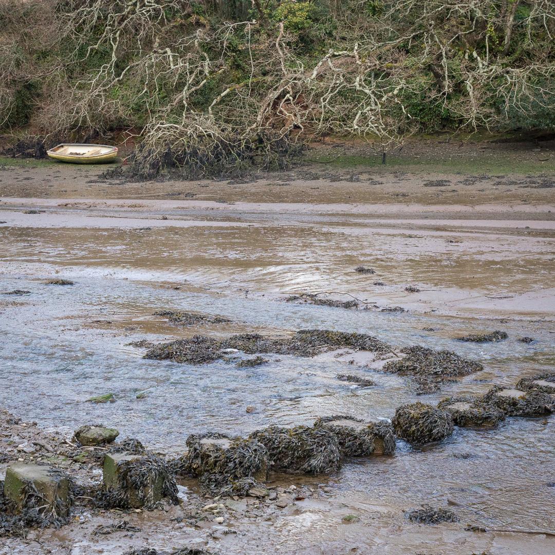 Tidal ford across Waterhead Creek, Devon.