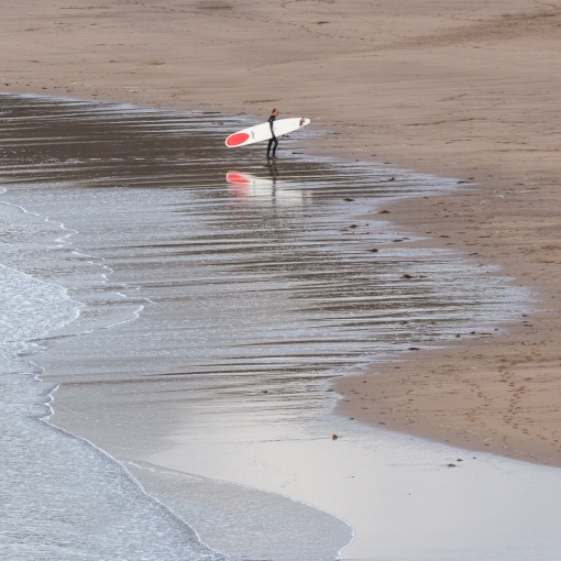 Surfer, Bantham Beach, Devon.